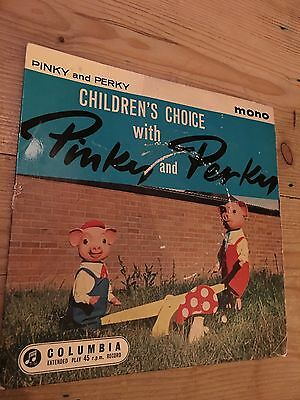 Pinky & Perky 1960 Vinyl Ep-Ugly Duckling/teddybears' Picnic/doggy In The Window