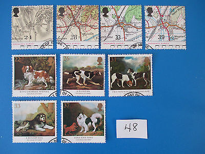 1991 GB Commemoratives: Dogs and Ordnance Survey Maps (ex-fdcs)  #48
