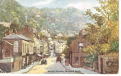 "PPC of "" South Parade , Matlock Bath   "" posted  1905"
