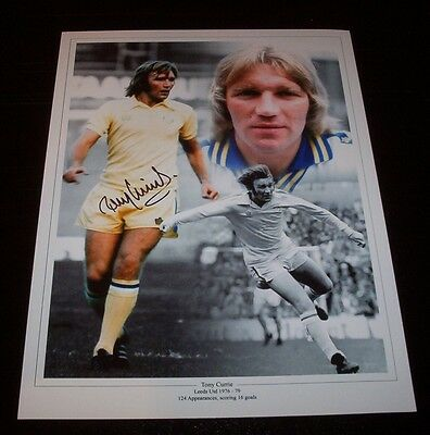 Tony Currie - Leeds United Signed 16x12 Montage Photo - PROOF