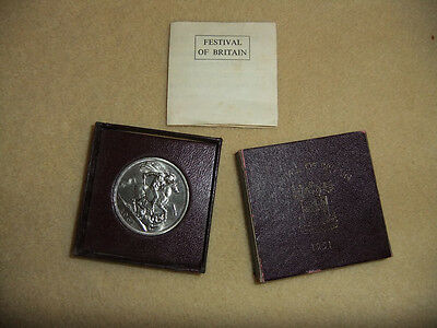 Festival of Britain 1951 George VI 5 shilling coin - boxed with certificate