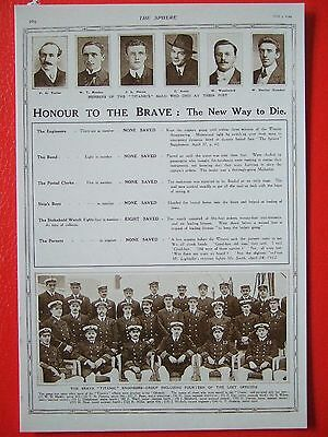 R M S Titanic Postcard - Honour To The Brave-The Sphere