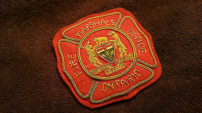 Canada ON Ontario Marshals Fire Fireman Firefighter Badge Shield Insigne Patch