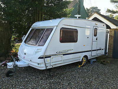 Sterling Belvoir 460 2 berth caravan with motor mover and awning