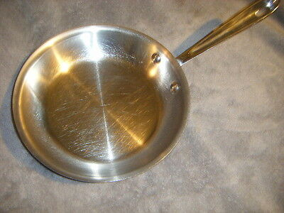 """Euc All Clad 3-Ply Stainless Steel 8"""" Skillet/saute Fry Pan Chef Quality"""