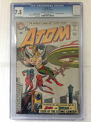 DC The Atom #7 CGC 7.5 Off-White/White Pages 1st Hawkman Crossover