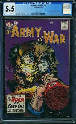 Our Army at War #81 CGC 5.5 DC 1959 Sgt. Rock Prototype until #83! F12 286 1 cm