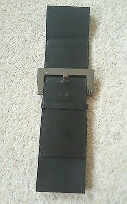 ♡Next Black Patent Chunky Waist Belt Size Small♡