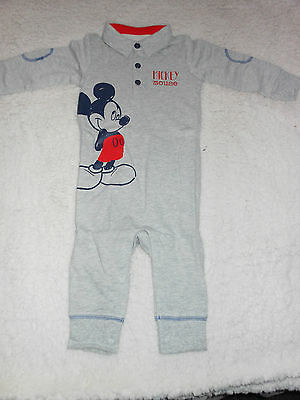 BNIP Boys Mickey Mouse Romper In Size 6-9 Months