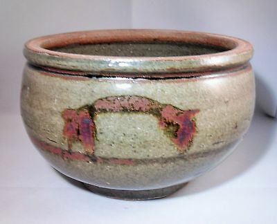 Trevor Corser St Ives Studio Pottery Large Hand Decorated Bowl Leach