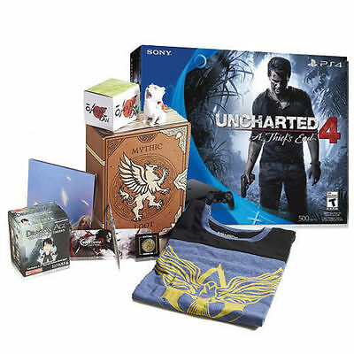 """PlayStation 4 Slim 500GB Uncharted 4 Bundle + Loot Crate """"Mythic"""" Gaming Crate"""