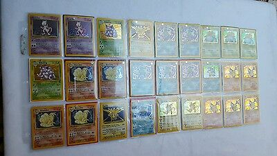 $1500+ Dealer Collection Pokemon Card Complete Base Sets (5x Charizard) See List