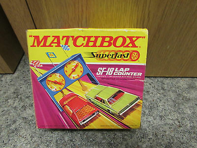 1970's LESNEY/MATCHBOX SUPERFAST SF-18 LAP COUNTER WORKING ORDER AND BOXED