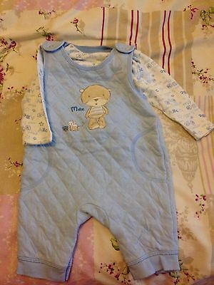 Baby boy 0-3 Month Outfit Cute Wedding Party Romper Winter Blue