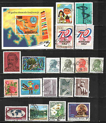Yugoslavia  Collection 20  Used  Lt-209.5
