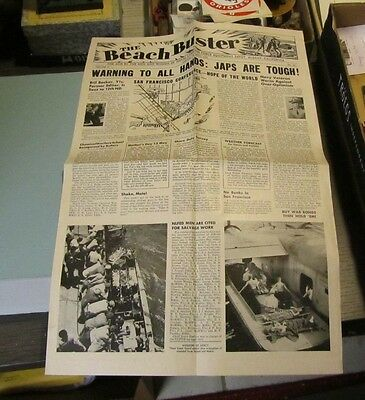 April 30 1945 WWII Beach Buster Newspaper US Naval Equipment Depot Albany CA