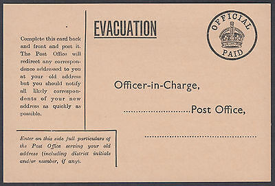 EVACUATION Official Paid Postcard; approx. 147mm by 98mm; Fine Mint