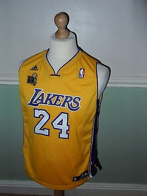 Lakers Nba 2009 Champions Vest Top Basketball 24 Bryant Adidas Xl Length + 2 Gen
