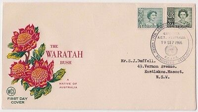 Stamps Australia QE2 on WCS Wesley Waratah first day cover conference Canberra