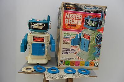 Rare Mister Brian Robot Battery Operated Remco Toys Made in USA 1960's Box