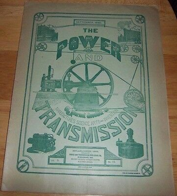 The Power and Transmission 1890 Machines Tools Bicycle Vintage Magazine