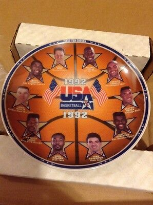 1992 Dream Team Collectible Basketball Plate