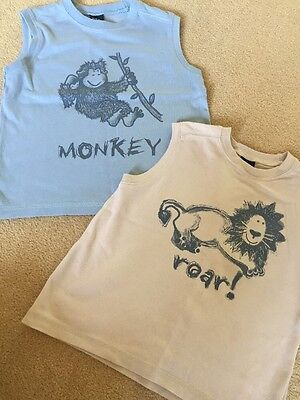 Next Boys Vest Top T-shirts Age 3-4 Years