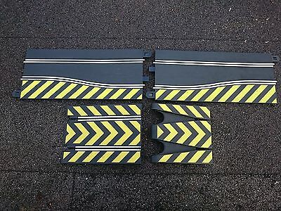 Scalextric Track extension - 2 x Yellow marked Side Swipes C8246 and Jump C8211