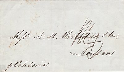 GB 1845 Outer Wrapper to London via Ship Caledonia & Ship Letter Gravesend