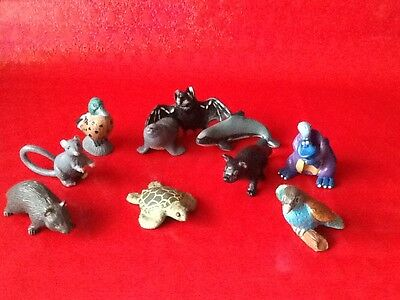 CADBURY YOWIES lot wild animals UK parrot seal pelican dolphin turtle duck bat