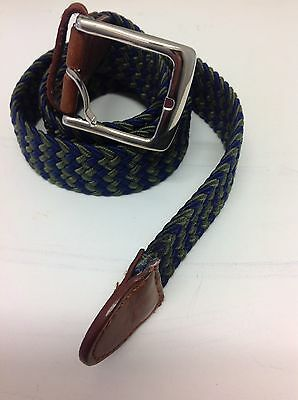 "Men's & Woman's Woven Elastic Pin Buckle Belt In Multi Colour Length 39"" Max"