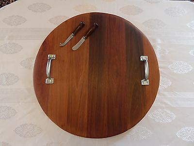Rustic Wooden Serving Platter - Cheese Fruit Board (Large)