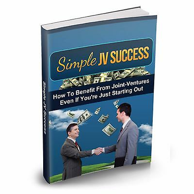 Simple JV Success How To Benefit From Joint Ventures on CD