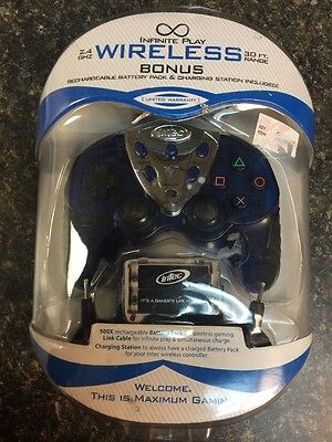 INTEC Infinite Play wireless controller Rechargeable Battery With Station Ps2