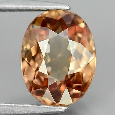2.83 Ct Zircon Oval Imperial Champagne Earth Mined Unheated/untreated  Vs