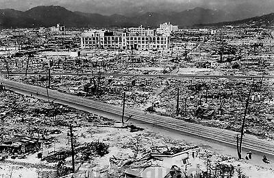 WW2 Photo Hiroshima after Atomic attack WWII 162