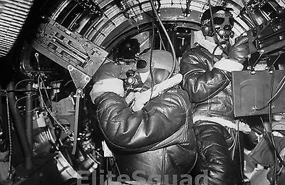 WW2 Photo Picture B-17 Flying Fortress Bomber During Bombing Raid to England 219