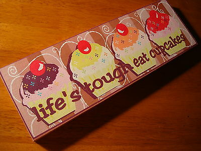 LIFE'S TOUGH EAT CUPCAKES Bakery Cafe Coffee Shop Kitchen Cake Baker Decor Sign