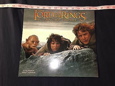 2004 - Lotr / Lord Of The Rings - Ttt / The Two Towers - 2004 Calendar - Vg!!!