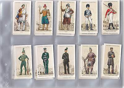 Cigarette Cards - Uniforms of the Territorial Army - Issued in 1939  - Full set