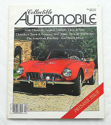 Collectible Automobile Magazine Premier Issue May 1984 1956-1959 BMW 507