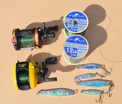 Fishing reels, line and lures