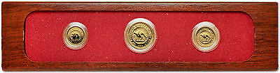 Australia 1989 Nugget 3 coins Gold Proof Set with Box & COA