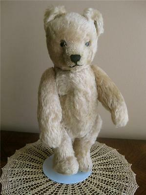 """Early SCHUCO TRICKY YES-NO BEAR MECHANICAL, Blonde 13"""" Well-preserved Condition"""