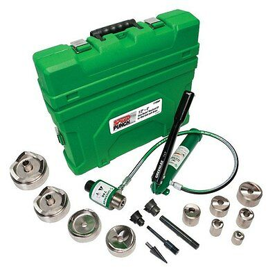 Greenlee 7310SBSP Conduit 1/2-Inch to 4-In Speed Punch Knockout Kit, Mild Steel
