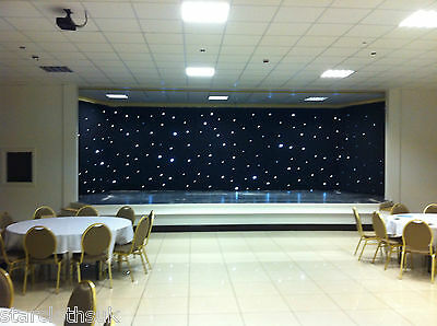 6m x 3m DMX black fabric starcloth with white LEDs 6x3 LED star cloth twinkling