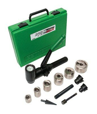 Greenlee Speed Punch 7908SBSP Kit, 1/2-Inch to 2-Inch Conduit, Mild Steel with D