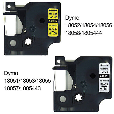 Compatible for DYMO Rhino Heat Shrink Cable Labeling Tubes Label Tape 6/9/12 mm