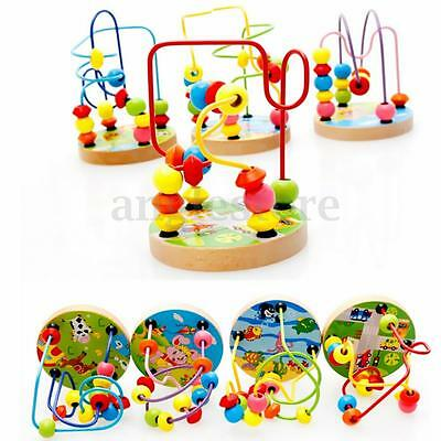 Baby Kids Wooden Educational Walking Beads Maze Toddler Infant Intelligence Toys