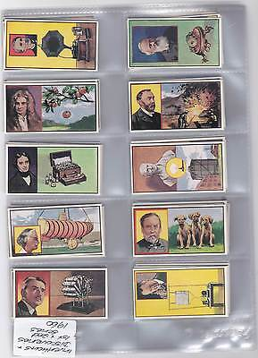 Trading Cards - Inventions and Discoveries - Issued in 1960 - 1st and 2nd Series